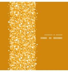 Golden shiny glitter texture vertical frame vector