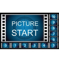 Countdown film frames vector