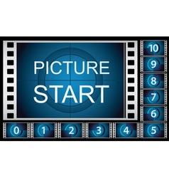 Countdown film frames vector