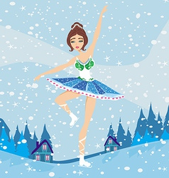 Beautiful figure skater vector