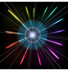 Abstract colorful magic glow ray lights vector