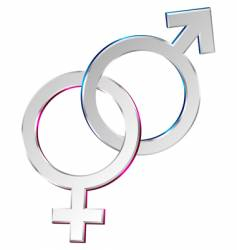 Male and female symbols union vector