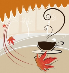Coffee and autumn season vector