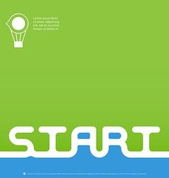 Easy start - brochure book cover or flyer design vector