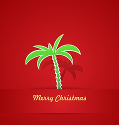 Tropical christmas card vector