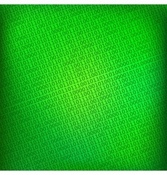 Green background with digital binary matrix vector