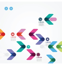 Design of a template with abstract colorful arrows vector