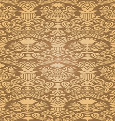 Gold seamless abstract floral pattern background vector