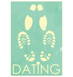 Dating rendezvous of lovers retro grunge poster vector