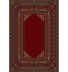 The design of the old carpet in red tones vector