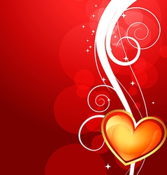 Shiny valentine day background vector