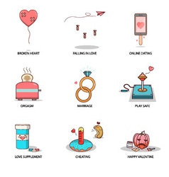 Fun and cute love collection vector