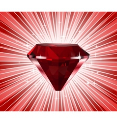 Red diamond shine background vector