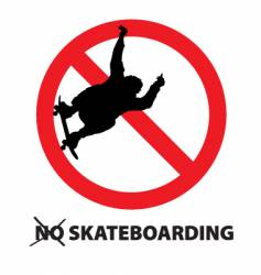 No skateboarding vector