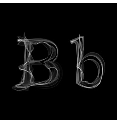 Smoke font letter b vector
