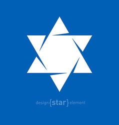 Star of david abstract design element vector
