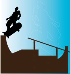 Skater backside grind vector