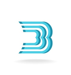 B letter logo template parallel lines style vector