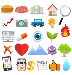 Object design cartoon vector