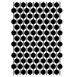 Circles on a string block pattern vector