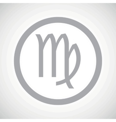 Grey virgo sign icon vector