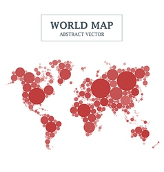 World map circle and dot design vector