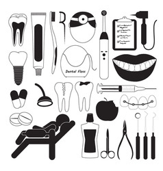 Dental and teeth care icons vector