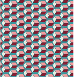 Red cubes seamless pattern vector