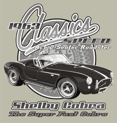 Shelby cobra classic vector
