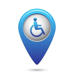 Disabled icon on map pointer vector