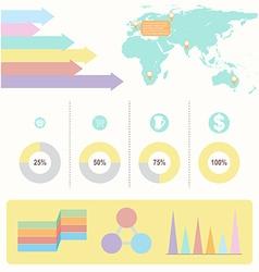 An infochart with colourful graphs vector