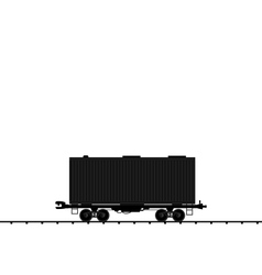Wagon cargo railroad train black transportation ic vector