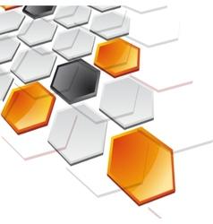 Abstract horizontal technology banner vector