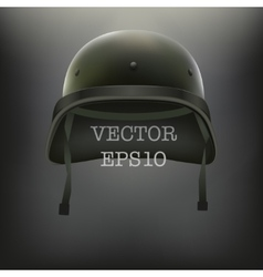 Background of military green helmet vector