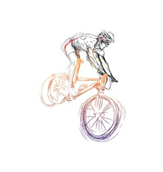 Cycling - cyclist vector