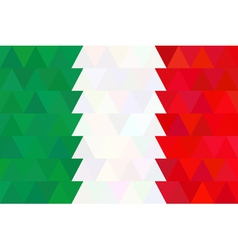Geometric background in italy flag triangle vector