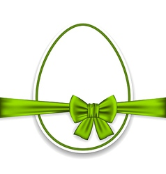 Easter celebration egg wrapping green bow vector