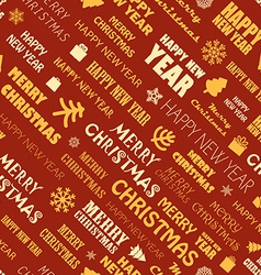 Christmas season elements seamless background vector
