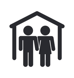 Home couple icon vector