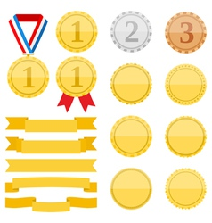 Medals and ribbons vector
