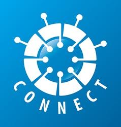 Round logo chip network vector