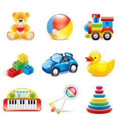 Set toys vector