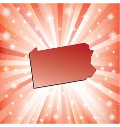 Red pennsylvania vector