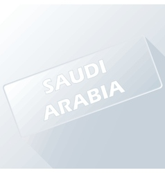 Saudi arabia unique button vector