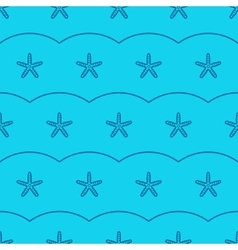 Marine seamless pattern with sea starfish vector