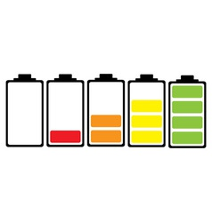 Simple illustrated battery icon vector