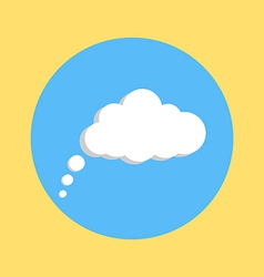 Communication cloud on yellow blue background vector
