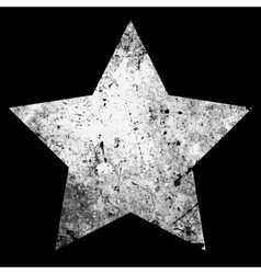 One star grunge vector