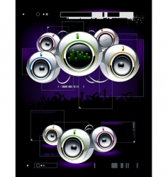 High tech speakers vector