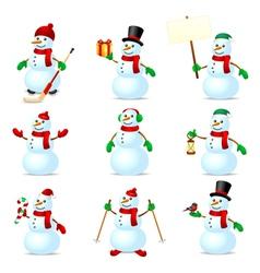 Snowman set vector